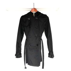 H&M divides black trench with hood